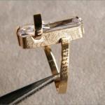 Goldmattierung Baquet Steine Goldschmiede