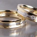 Eheringe aus Silber mit 0,16ct Brillant. #silbereheringebrillant