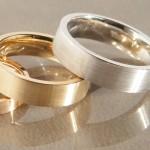 Familien Ringe in 585 weiß, gelb und Rosegold #familienringegold