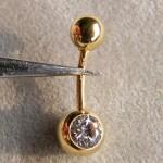Piercing Piercings Bauchnabelpiercing Gold Silber