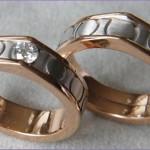 Umarbeitung von Eheringe Weiß - Rosegold