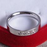 Verlobungsring 750 Weißgold #verlobungsringdesign #eheringdesign