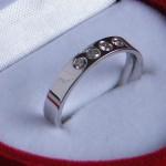 Verlobungsring 750 Weißgold #verlobungsringdesign #eheringedesign