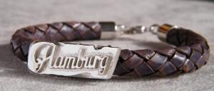 Hamburg Lederarmband Silberteile  #hamburglederarmbandsilber