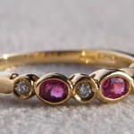 750 Gold Ring mit Rubine