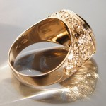Antikes Signet 750 Gold mit Jaspis