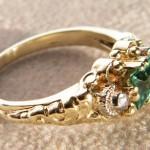 Art Deco Ring 585 mit ein Turmalin.