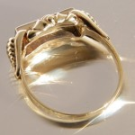Art Deco Ring aus 585 Gold mit Brillanten