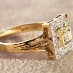 Art Deco Ring in 750 Gold.