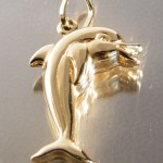 Delfin Anhänger aus 750 Gold