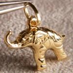 Elefant Anhänger in 750 Gold