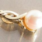 Goldanhänger 585 mit Perle und Brillant