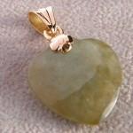 Jade Herz aus 750 Gold