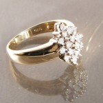 Ring 585 Gold mit 19 Brillanten je 0,01ct. RG 48. #brillantenring 1