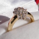 Ring 585 Gold mit 19 Brillanten je 0,01ct. RG 48. #brillantenring 4