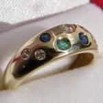 Ring 585 mit verschiedene Edelsteine