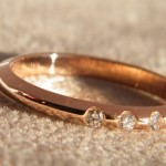 Rosegold Ring 585. Brillanten zusammen 0,06ct.
