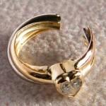 Zehen Ringe aus 750 Gold mit Herzsteine