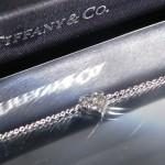Tiffany Armband Armband aus Platin mit runden Brillanten. Größe Large, 17 cm lang. Gesamtkaratgewicht 0,18 kt.