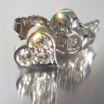 Tiffany Hearts Ohrringe aus Platin mit runden Brillanten #tiffanyheartsplatinbrillanten