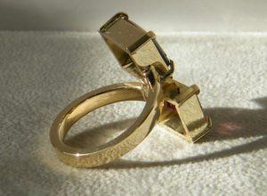 Verlobungsring 750 585 herstellung zusammen gelb weiß gold brillant edelsteine hamburg goldschmiede
