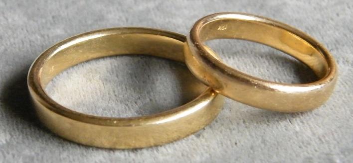 Witwenring Aus Zwei Eheringen Eheringe Bei 10
