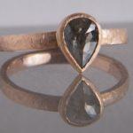 Verlobungsring aus Rosegold mit Fancy Diamant