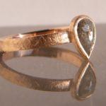 Verlobungsring aus Rosegold mit Fancy Diamant Goldschmiede Hamburg umweltfreundliche Herstellung