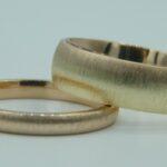 Bicolor Trauringe Rosegold Gelbgold Ringe aus 585 Gold Herstellen Goldschmied Hamburg Rahlstedt
