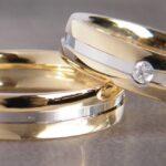 Ringe Bicolor mit 3 Brillanten #eheringegoldbrillanten