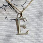 Buchstaben aus Gold Anhänger Initialen aus Gelbgold 14ct massiv Gold